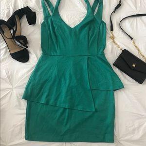 Green Peplum Dress. Accessories NOT included 😊